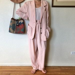 Vintage 80s Baby Pink Ultra Comfy Lounge Suit